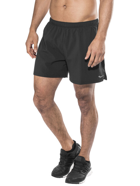 "saucony Throttle 5"" - Short running Homme - noir"